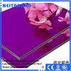 Panneau composite en aluminium et à haute luminosité PE / PVDF Acm pour affichage et affichage
