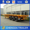 40ton Container Remolque, Tri-Eje 20 pies 40 pies de superficie plana Contenedor de carga del remolque