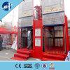 Jaulas dobles de Sc200/200- 2ton con el elevador del alzamiento de la construcción de la velocidad 34m/Min