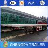 2015 Suministro de fábrica cama plana de 40 pies de contenedores Remolque
