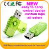Memoria Flash plástica del mecanismo impulsor de la pluma del USB con la insignia modificada para requisitos particulares para la muestra libre