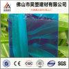 Panneau de plastique de Sun de feuille solide verte de polycarbonate pour des matériaux de construction