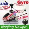 L'hélicoptère coaxial infrarouge mini en métal 3.5ch RC de 11.3cm avec Gyro+Throttle Lock+LED s'allume (GS4004T)