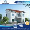 Casa prefabricada de la casa de planta baja de la estructura de acero de 2 suelos para la familia