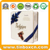 Kundenspezifischer quadratischer Zinn-Kasten, Blechdose, Nahrungsmittelzinn, Metallzinn, das für Süßigkeit verpacken, Schokolade, Plätzchen, Biskuit und Imbisse