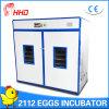 Incubadora automática do ovo da galinha de Hhd para os ovos de choque (YZITE-15)