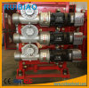 Dispositivo de conducción del motor eléctrico de la caja de engranajes para el alzamiento de la construcción