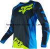 Sublimation seco rápido customizável de Black&Blue T-Shrit que compete Jersey (MAT54)