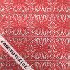 Tela de nylon do laço do algodão vermelho do projeto da flor