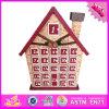 Le calendrier en bois de Noël du bébé 2016 en gros, dessin animé badine le calendrier en bois de Noël, le calendrier en bois W02A184 de Noël d'enfant