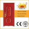 木製の質によって終えられる振動鋼鉄ドア(SC-S027)