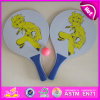 2015 способ Wooden Beach Racket Set для Kids, Children Wooden Beach Racket и Ball, Wooden Beach Play Racket с Ball W01A113