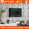 Vinil preto e branco papel de parede gravado (80401)