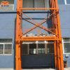 Elevatore di merci fissato al muro di uso idraulico del magazzino