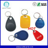 13.56MHz ABS Nfc RFID Keyfob com anel do metal