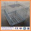 Heavy Duty Warehouse Fordable Steel Mesh Roller Cage