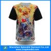 Bonne T-shirt estampé de collet des hommes 100%Polyester de Qualtiy par plaine ronde