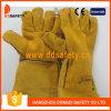 De gele Werkende Handschoenen Dlw612 van de Veiligheid van de Lasser van de Handschoenen van het Leer van de Koe Gespleten