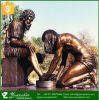 Sculpture en bronze grandeur nature célèbre