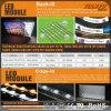 Exhibición de aluminio de la feria profesional de la tela LED de la venta caliente 2016
