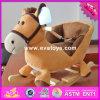 Лошадь младенца 2017 оптовых продаж деревянная тряся с звуком, новый способ ягнится деревянная тряся лошадь с звуком W16D095