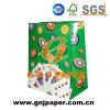 Bolsa de papel material laminada de arte con la cuerda del algodón