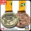 Изготовленный на заказ медаль сувенира поднятия тяжестей спорта пожалования с верхним качеством