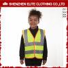 Gilet r3fléchissant de sûreté de visibilité d'enfants élevés en gros de jaune
