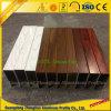 屋外の10年のPVDFの木製の穀物の長方形アルミニウム空セクション