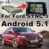 フォード同期信号3焦点のフェスタKuga Mondeo等のためのGPSのアンドロイド5.1の運行ビデオインターフェイス