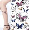 Tatuaje temporal impermeable del arte de la etiqueta engomada del tatuaje de la mariposa