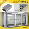 Bâti en aluminium pour le guichet en aluminium et la porte doubles en verre