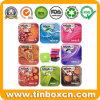 Quadratischer und rechteckiger tadelloser Zinn-Kasten, Süßigkeit-Blechdose, Süßigkeiten-Zinn mit Scharnier, Metallzinn-Kasten für das Verpacken der Lebensmittel