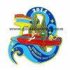 Ouro Plating Metal Badge com Color Enamel