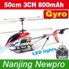 alouette d'hélicoptère de 50cm 3CH RC avec l'écran Controller+Gyroscope+Metal Frame+Flashinglights (GS4004T) d'affichage à cristaux liquides