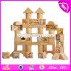 Le 50 parti poco costose all'ingrosso del bambino scherza i giocattoli d'apprendimento di legno del reticolo prescolare del fumetto per i bambini W13b021