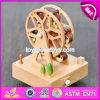 Rectángulo de música de madera de los mejores del diseño del Waterwheel niños al por mayor de la dimensión de una variable W07b037