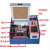 Gravura do laser da borracha 4060 e máquina de estaca plásticas de madeira pequenas