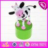 2016 le plus nouveau jouet animal en bois, jouet animal en bois éducatif, jouet animal W06D068 de source en bois populaire
