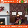 Fleur à la maison de papier peint de damassé de décoration avec la pente élevée