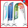 昇進または広告のためのカスタム印刷の涙の羽の飛行の上陸海岸表示旗