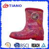 Цветастые удобные ботинки дождя PVC для детей (TNK70004)