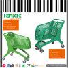 Lebensmittelgeschäft-volle PlastikEinkaufswagen-Laufkatze