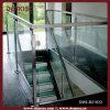 Загородка крытых лестниц стальная стеклянная (DMS-B21622)