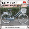 26 Inch Alloy Frame 3 Speed City Bicycle for Lady(