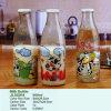 Популярное питье, молоко, вода, бутылка напитка стеклянная с крышками