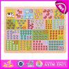 Giocattolo di asilo di puzzle di per la matematica di alta qualità 2015, puzzle di legno di numero del giocattolo del gioco educativo del capretto, puzzle di legno W14c214 di numero di vendita calda