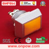 De Drukknop Switch (gq12s-10/t-o) 12mm, Ce, RoHS van Onpow van Square
