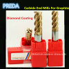 Graphite를 위한 텅스텐 Carbide Diamond Coated End Mill