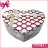 Caja impresa cartulina de cuero de encargo especial del recuerdo del corazón del diseño